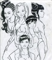 Street fighter Gals by Marvsamune