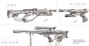 Master Chief's new guns by Armalite