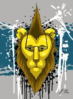 Hipster Lion II by RMacArt
