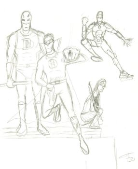 Some Heroes - WIP by FG-Arcadia