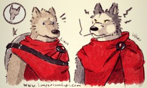 Imperium Lupi - Linus and Uther (cute) by Imperiumlupi