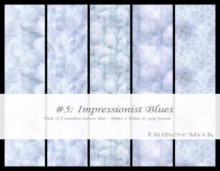 Impressionist Blues by BirdseyeStock