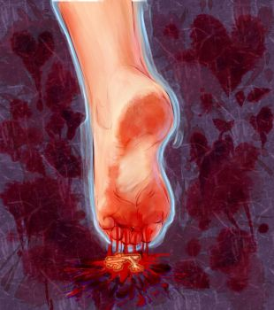 Gory Footcrush Commission img 3 of 5 is done by Eh-Lora