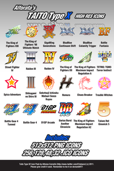 TAITO Type X2 - High Res Icons by Alforata
