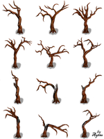 Naked Trees Pack by Ayene-chan