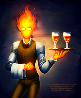 [speedpaint] Grillby by serpyra