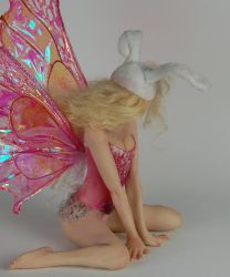 fairy Bunny Rabbit back by polymer-people
