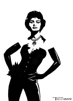 Sophia Loren Bombshell in Black 1 by Tom kelly by TomKellyART