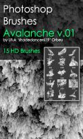 Shades Avalanche v.01 HD Photoshop Brushes by shadedancer619