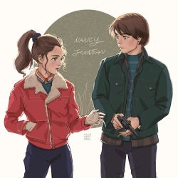 Stranger things: Nancy and Jonathan by Janenonself