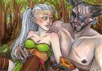 ACEO Silevren and The Iron Bull by nickyflamingo