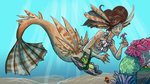 Day 51: Lionfish Mermaid by kiranox