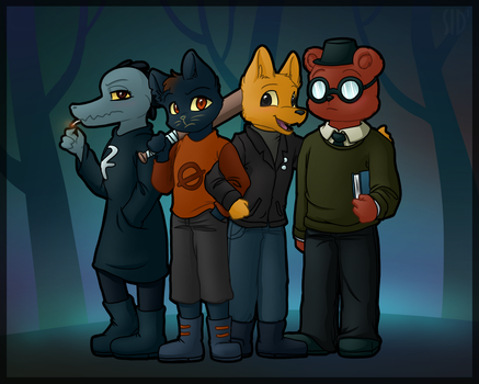Night in the Woods Gang by S1Dni