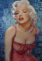 Marilyn Monroe in squares by IlonaPankevich
