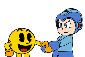 Pac-Man meets Mega Man by MarcosPower1996