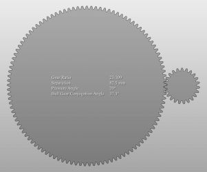 Spur Gear Profile 2D by naraphim