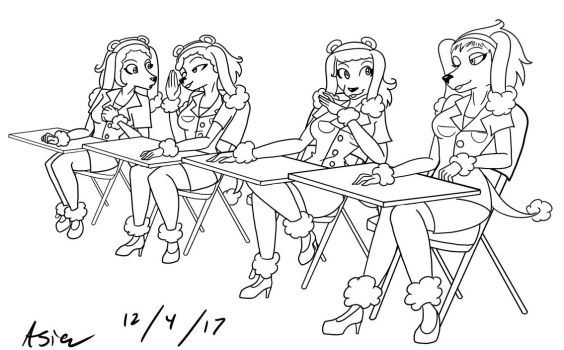 4 - Line Art Commission by AsiaTheAnimator