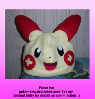 Plusle hat by PokeMama