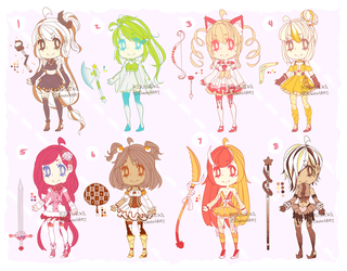 ::Adopts:: Magical Dessert Girls CLOSED by K0USEKI