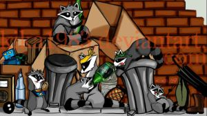 raccoon squad : commission by kika1983