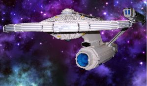 Starship Enterprise in LEGO by MrMisty