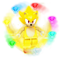 Lego Super Sonic Render by Nibroc-Rock