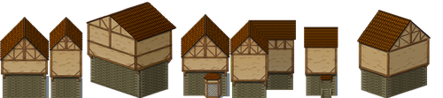RPGM Resource - red houses by ProjectPixelChest