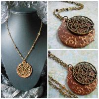 Clockwork Heart Leather Steampunk Necklace by random-wish