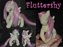 MLP Fluttershy plush by QueenAnneka