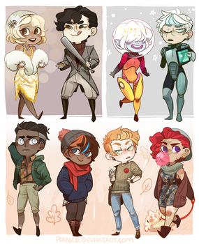 Assorted Chibi Adopts (ENDED) by ScaredPrince