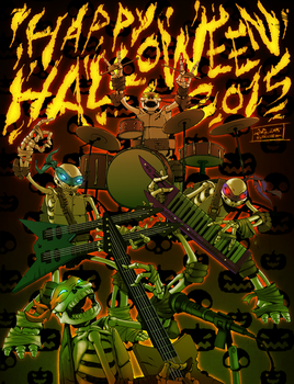 TMNT HAPPY HALLOWEEN 2015 by suthnmeh