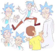Rick and morty by Rocky-roads