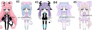 pastel goth - fairi kei  adoptable batch CLOSED by AS-Adoptables