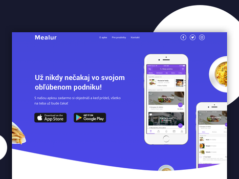 Mealur website by jozef89