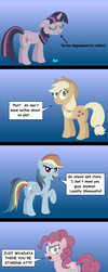 The ponies are not amused - Discorded Edition by AleximusPrime