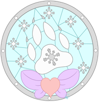 C Frost Stained Glass by Beadedwolf22