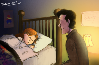 The Doctor and Amy Pond. by ilcielocapovolto