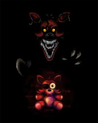 Five Nights at Freddy's FNaF4 Nightmare Foxy by kaizerin
