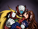 Rockman x4 The last sigh of iris by OnlyDarknessburning