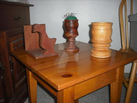 Woodworking Pieces by AlchemicDruid