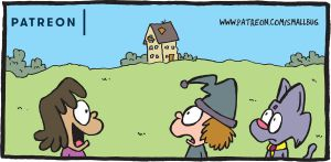 Patreon update: Snakes! Haunted House! by bakertoons