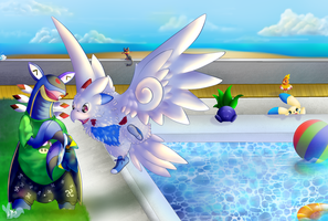 Day in the pool (COMM) by LysMily
