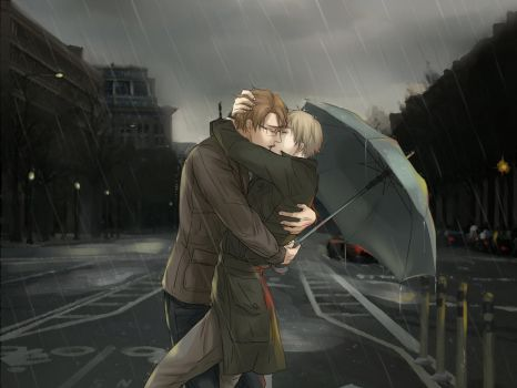 Happy (Rainy) 4th of July !! [UsUk/APH] by RavenMushroom