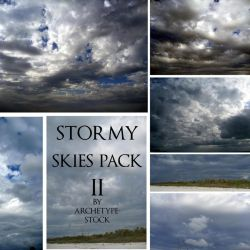 Stormy Skies at the Beach by archetype-stock