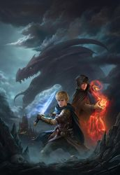 The Dragon Hunter And The Mage by yinyuming
