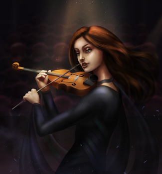Music of your shadow - Lisa OC - DRAW IT AGAIN! by eschata