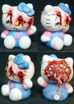 Hello BLASTED Kitty Ooak by Undead-Art