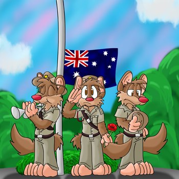 ANZAC Day - 100 Years On - Lest We Forget by FurrhanBlackwood