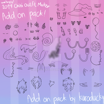 Chibi 2017 Outfit Maker ADD ON PACK by kuroducky