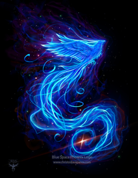 Blue Space Phoenix Logo by amorphisss